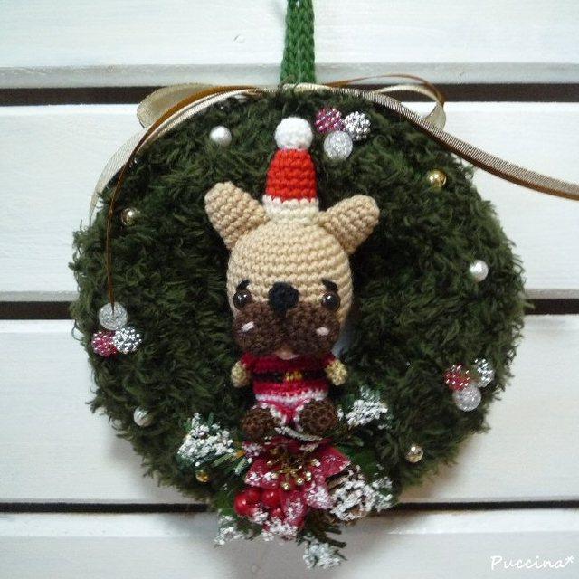 フレブルサンタのクリスマスリース(フォーン)