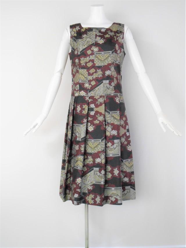 紬のジャンパースカート 着物リメイク