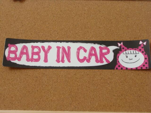 【再販】ステッカー BABY IN CAR 女の子
