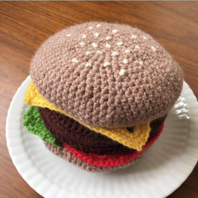 あみぐるみポーチ?ハンバーガー
