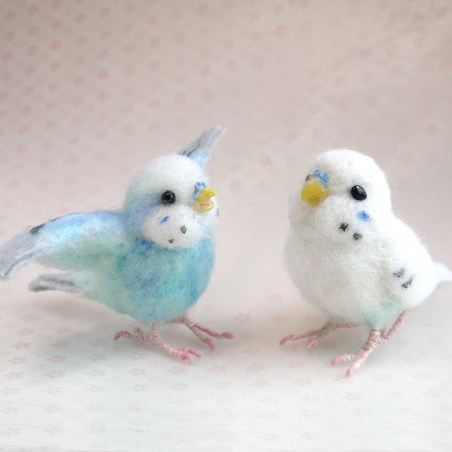 【m様ご注文分】羊毛フェルトの小鳥 ...