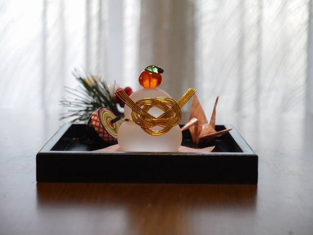 teru414さま ご予約品ガラスの鏡餅 SS Set