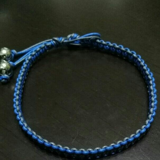2色ヒモ編みブレスレット ★小さめ★