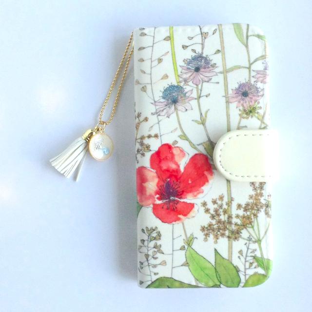 リバティiphone7手帳型ケース(イルマコ...