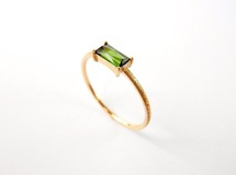 Baguette Cut Stone Ring 《Tourmaline》