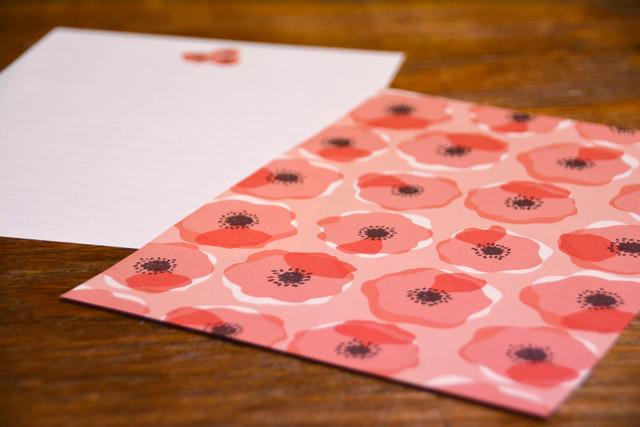 レターセット[wind flower  red]