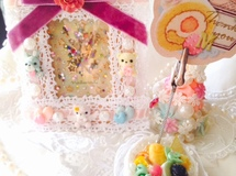 (B)Unicorn X'mas Fantasy decoration Frame&Fruits Cake^-^