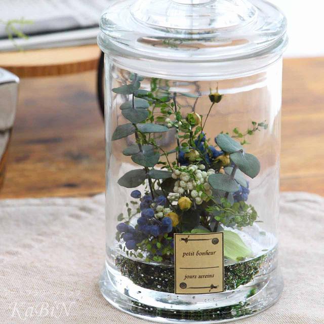 水と植物〜自然の息吹保存瓶アレンジ M...