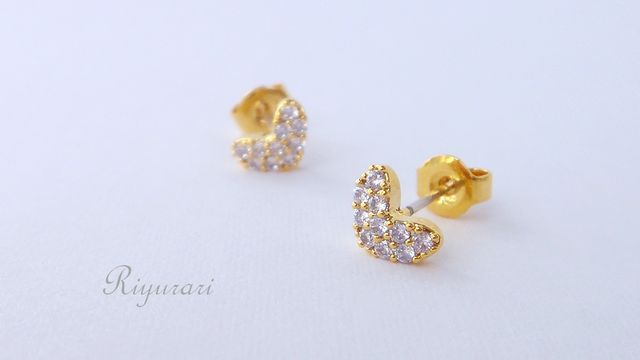 Tiny heart CZ pierce