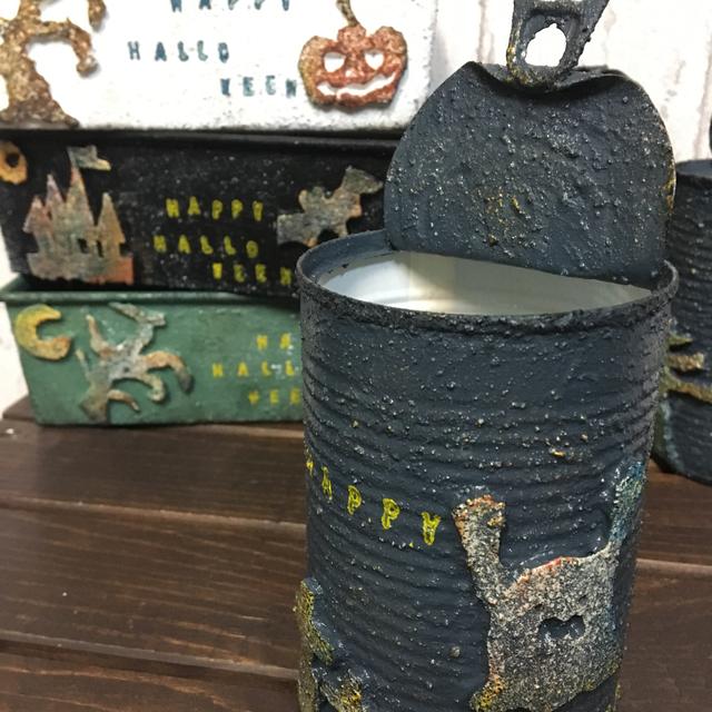 ハロウィン缶