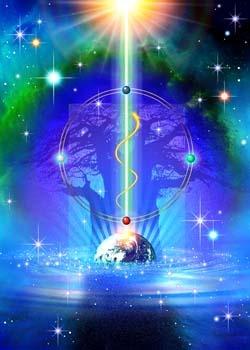 <No.4『宇宙生命樹』>ゼロポイントアート/KOMEI-ART
