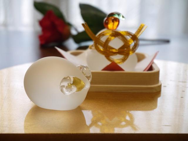note-bookさま ご予約品 ガラスの鏡餅&羊の詩(うた)