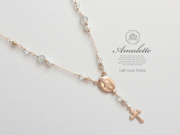 Amulette/moon 14KGFネックレス