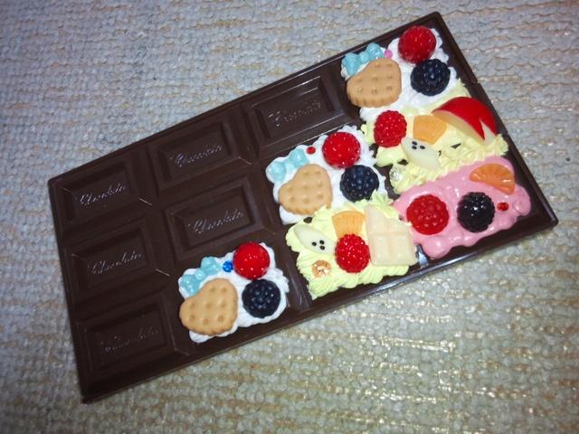 ★スイーツデコ★チョコレートミラー★鏡★