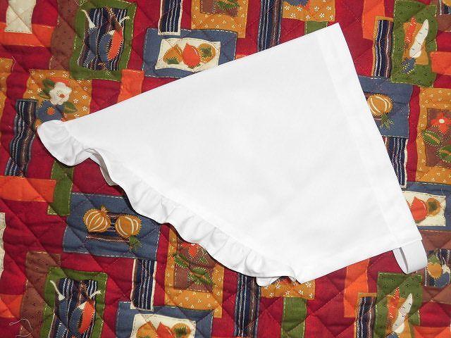 フリル付き三角巾/白色・フリル付き・...