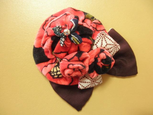 花ベルベット帽子&浪漫リボンバレッタ