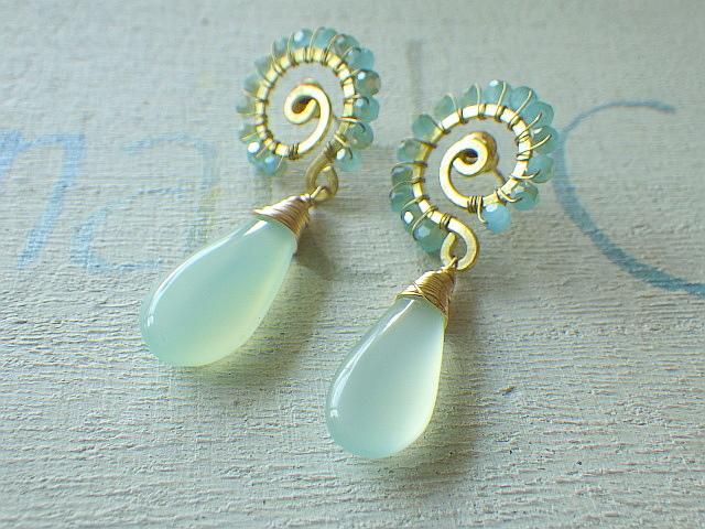 Ocean Swirl Chalcedony 'Aqua'