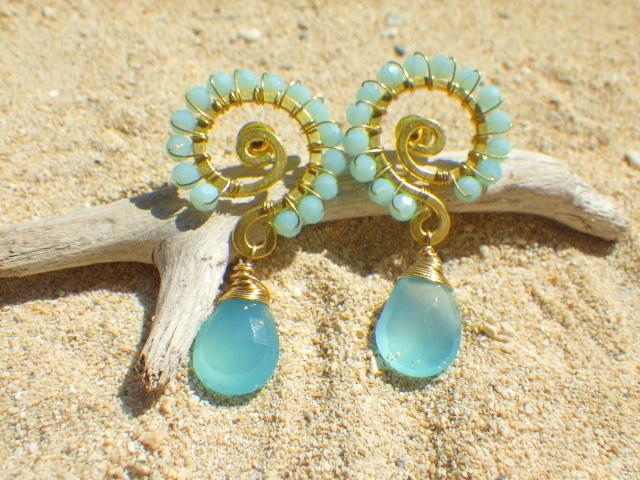 Ocean Swirl Chalcedony *Sea blue*