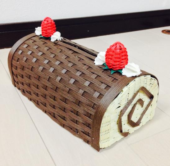 チョコロールケーキティッシュBOX
