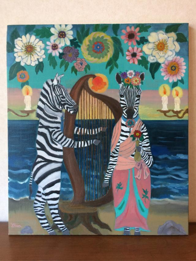 油絵原画「海辺のアリア」