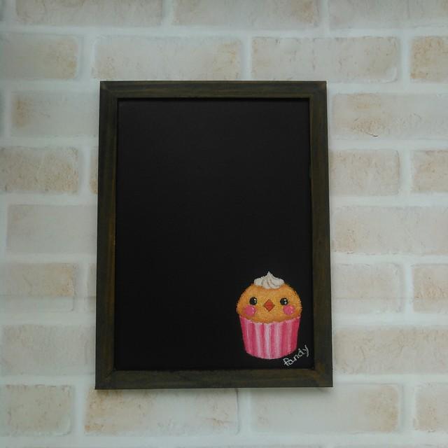 ことりカップケーキ*マグネットボード 縦