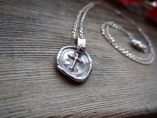 Sealing Stamp Pendant.~Cross~
