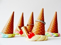 【受注製作】Ice Cream Ring Stand/Vanilla