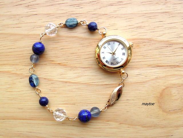 ラピスラズリ*14kgfジュエリー腕時計