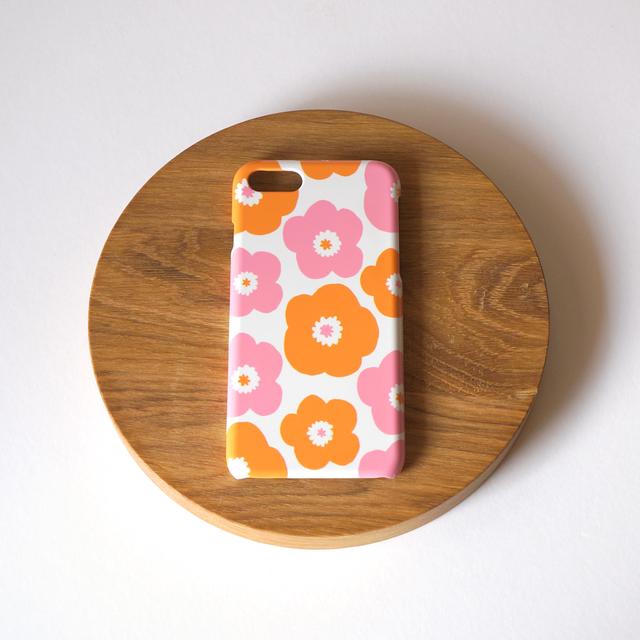 popy ( pink × orange ) スマホケース...