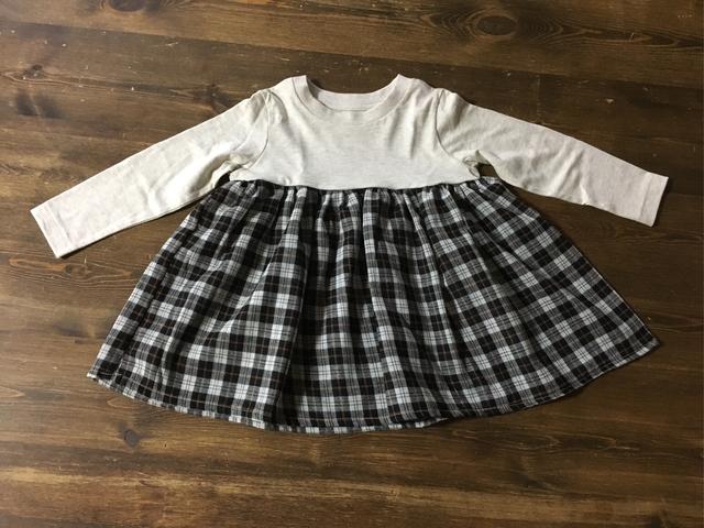 90?生成Tシャツ×ブラウン系チェックス...