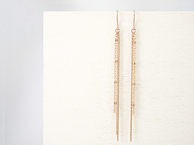 14KGF Chain Earrings