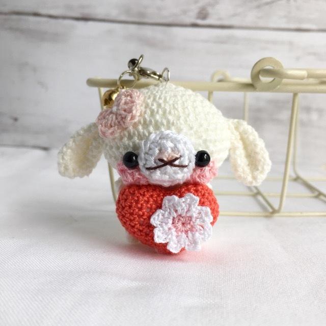 【受注生産】赤色ハート・白色ロップイ...