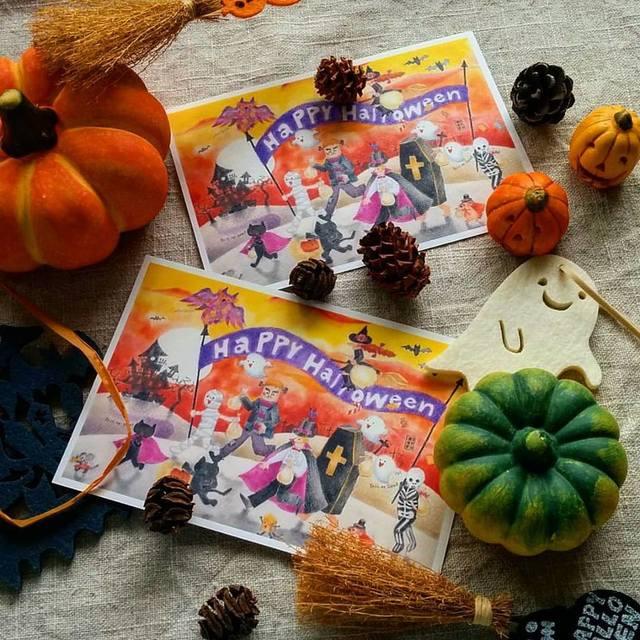 Halloween ポストカード二枚セット