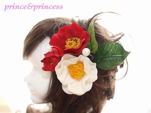 椿の髪飾り