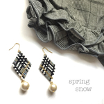 【特集掲載】◇glen check × cottonpearl earrings◇