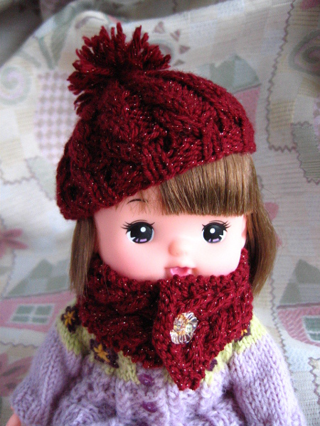 メルちゃん ベレー帽とマフラーセット