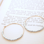 14KGF Metal Beads Hoops SV / S
