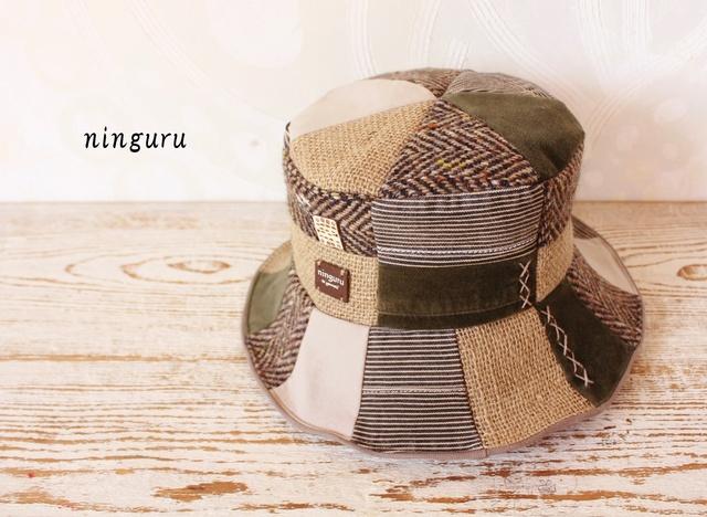 秋冬のウール・麻HAT(NO.2)