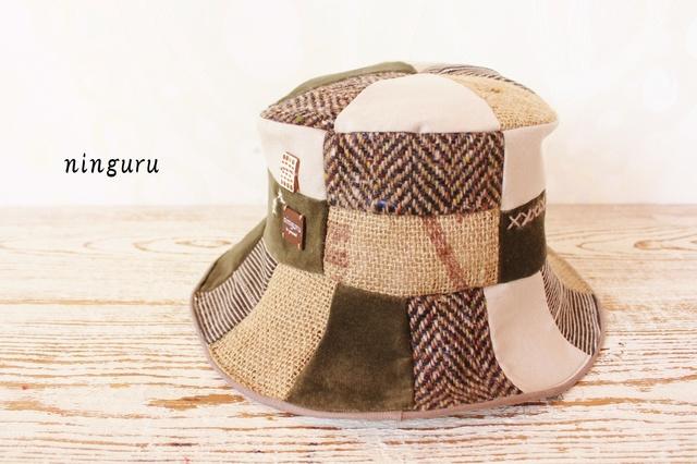 秋冬のウール・麻HAT(NO.1)