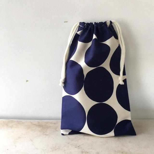 水玉ドット☆巾着袋(057)