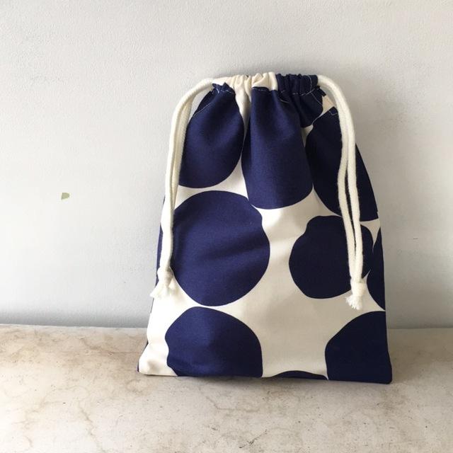 水玉ドット☆巾着袋(058)