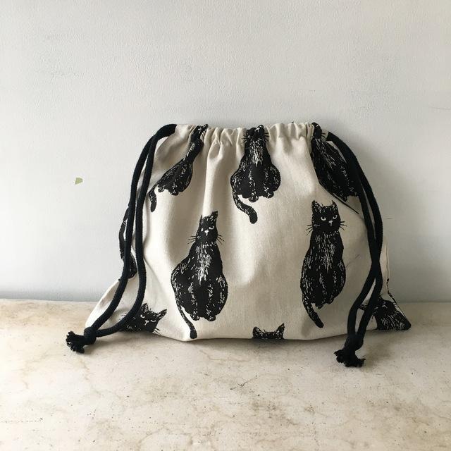 ぷっくり猫の巾着袋♪(059)