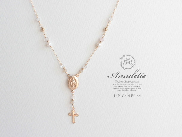 Amulette/fleur 14KGFネックレス