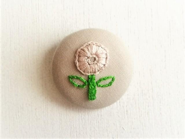 刺繍ブローチ 「花」