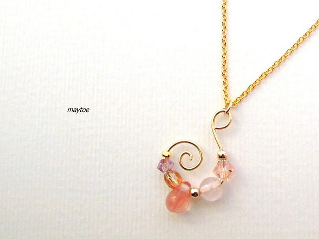 14kgf*ローズクォーツ*Fairy pink* ...