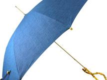 藍染浅葱色レディーススリム晴雨兼用傘寒竹手