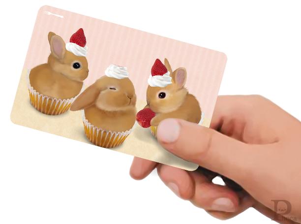 ICカードステッカー カップケーキ