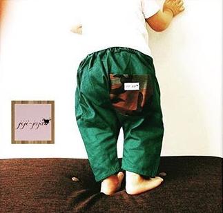 3年履ける★greenのひかえめミリタリポケット サルエルパンツ70~95
