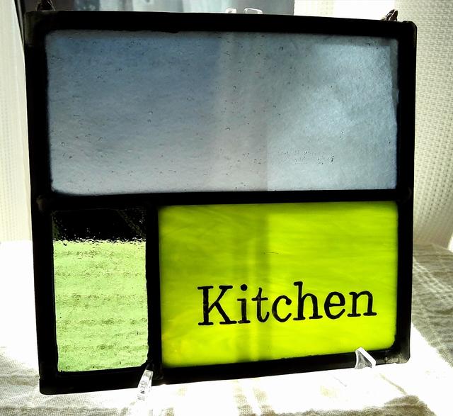 ステンドグラス キッチンパネル
