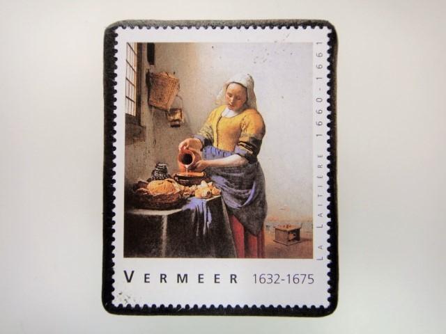 フェルメール 切手ブローチ 2850